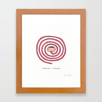 Awesome tongue Framed Art Print