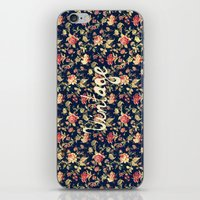 Vintage Elegant Pink And… iPhone & iPod Skin