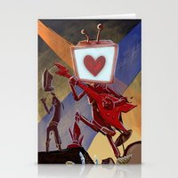 Rock Band Robot Stationery Cards