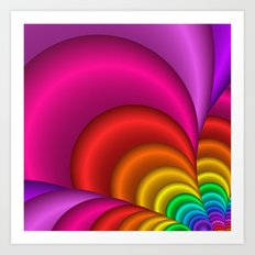 fractal and colorful -3- Art Print