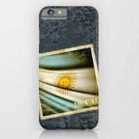 Grunge sticker of Argentina flag iPhone 6 Slim Case
