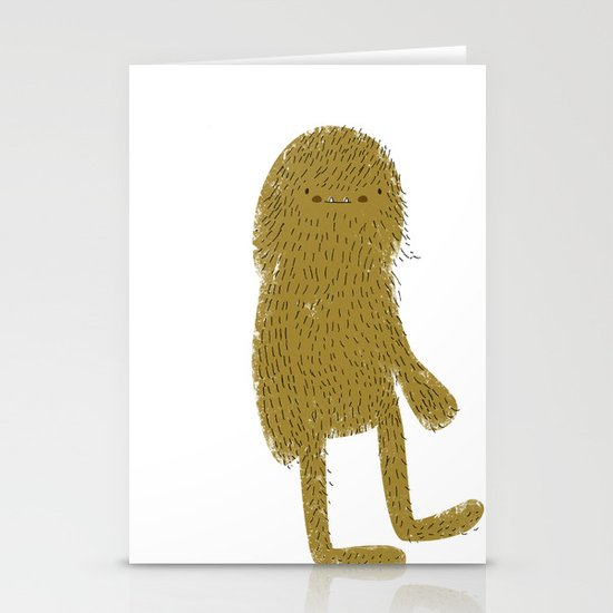 Sasquatch man Stationery Card