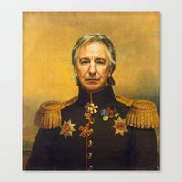 Alan Rickman - Replacefa… Canvas Print