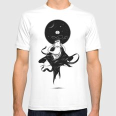 Nibbana Mens Fitted Tee White SMALL