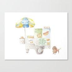 Hot Dog Truck Canvas Print