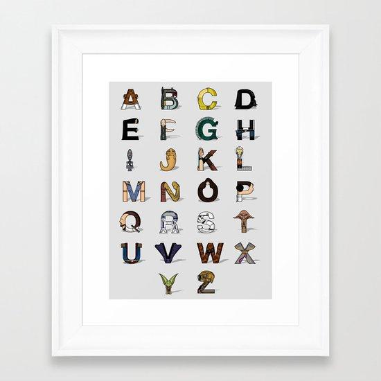 Star W. alphabet Framed Art Print