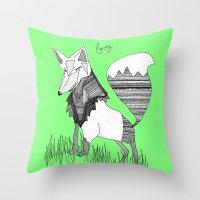 Foxy Fox Throw Pillow