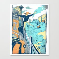The City vs. Country Canvas Print