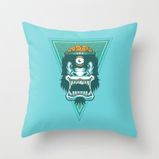Irradiated Gorilla v 2 Throw Pillow