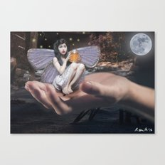 Fairy in the Hand Canvas Print