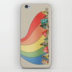 Rainbow {Weeeee} iPhone & iPod Skin