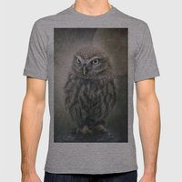 Little Owl Mens Fitted Tee Athletic Grey SMALL