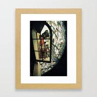 virtual mirror Framed Art Print