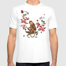 Monkey World: Nosy - White SMALL White Mens Fitted Tee