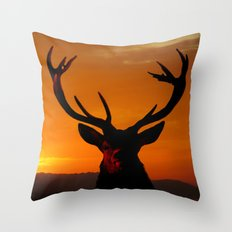 ANIMALS-Highland Stag Throw Pillow