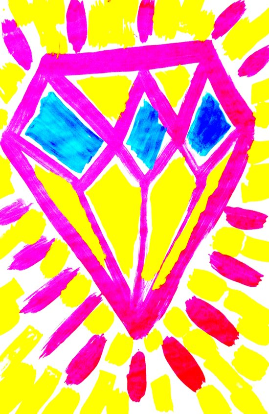 Rough Diamond Art Print