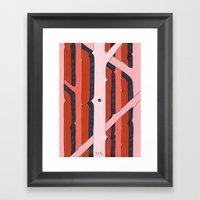 Mono Pattern | The Rosew… Framed Art Print