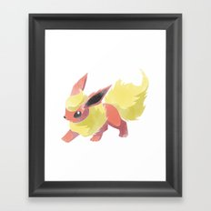 PKMN : FLAREON Framed Art Print