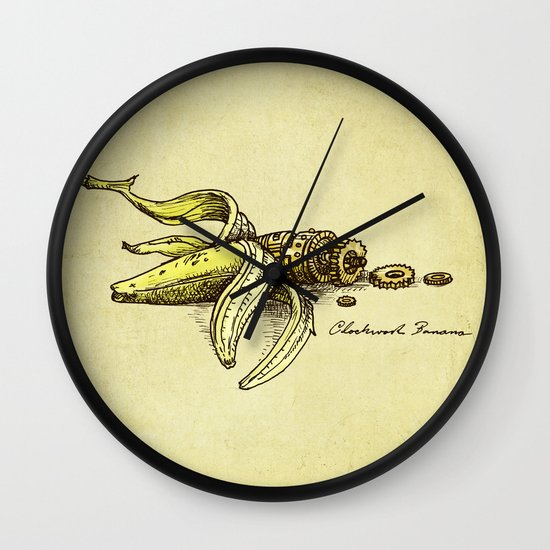 Clockwork Banana Wall Clock