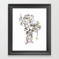 Cross Building (white Ba… Framed Art Print