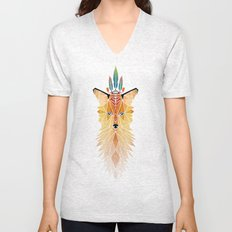 fox spirit  Unisex V-Neck