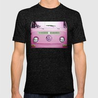 Summer of Love - Cotton Candy Pink Mens Fitted Tee Tri-Black SMALL