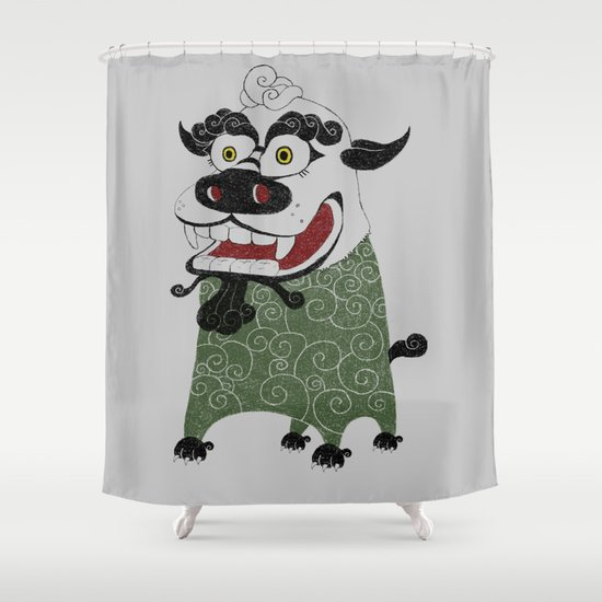 Shishi 獅 Shower Curtain