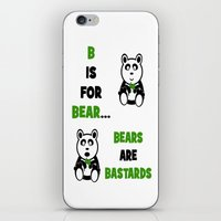 B is For Bear iPhone & iPod Skin