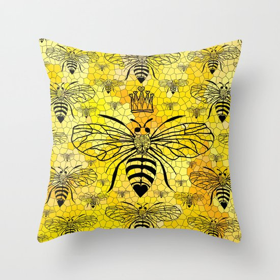 Queen Bee... Throw Pillow by Lisa Argyropoulos Society6