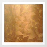 Brushed Copper Metallic Art Print