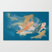 koi {blue} Canvas Print