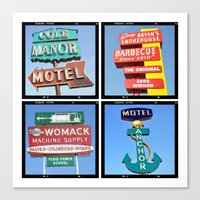 Vintage Signs Composite … Canvas Print
