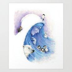 Lady Winter / Dame Hiver Art Print