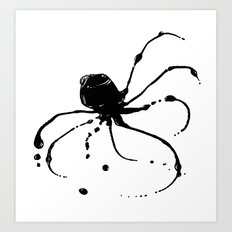 Octopus Ink Art Print