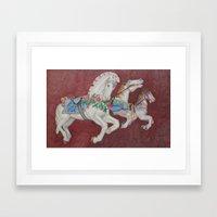 Carousel Race Framed Art Print