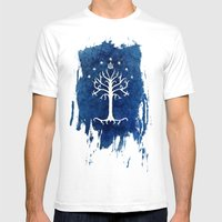 The White Tree Mens Fitted Tee White SMALL