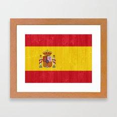 Spain flag Framed Art Print