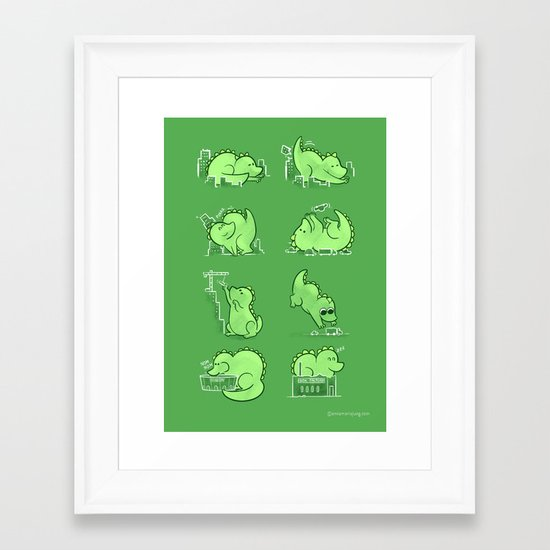 Gawwwzillawww Framed Art Print