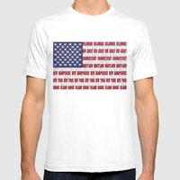 Stars And Stripes  Mens Fitted Tee White SMALL