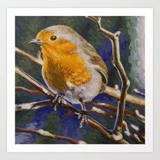 European Robin Art Print