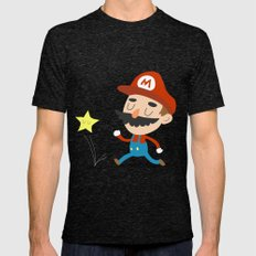 Mario Mens Fitted Tee Tri-Black SMALL
