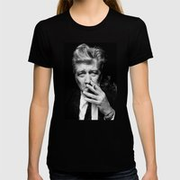 David Lynch Womens Fitted Tee Black SMALL