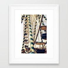 Vintage Ferris Wheel in Marseilles, France Framed Art Print