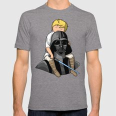 Number One Dad (Vader) Mens Fitted Tee Tri-Grey SMALL