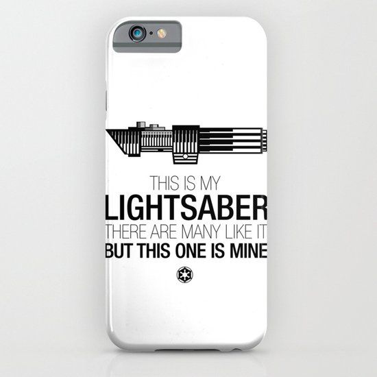 This is my Lightsaber (Vader Version) iPhone & iPod Case