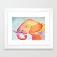 Cheerful Elephant V.1 Framed Art Print