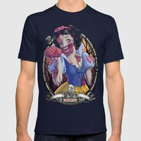 Zombie Snow White Mens Fitted Tee Navy SMALL