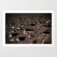 rain was here Art Print
