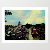 Waiting For A Train In G… Art Print