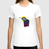 Get Off The Furniture, U… Womens Fitted Tee White SMALL